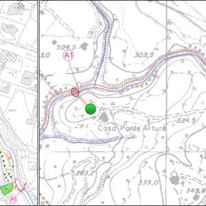 Ubicazione interventi nei comuni di Luvinate e Casciago (VA)